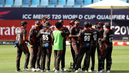 UAE celebrate wicket of Coetzer