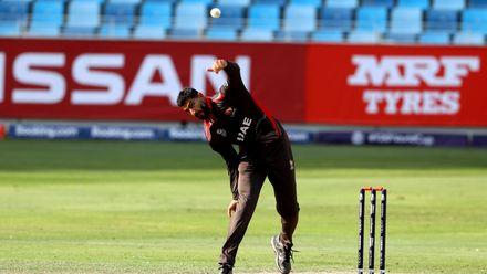 Ahmed Raza bowling