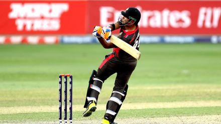 Waheed Ahmed batting against Scotland