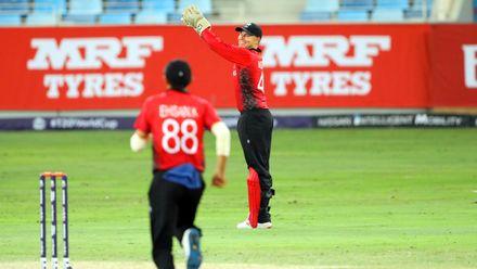 Scott McKechnie takes the catch of Khawar Ali