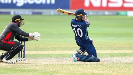 Calum MacLeod batting against UAE