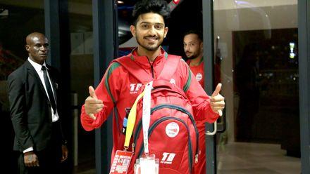 Oman team arrive