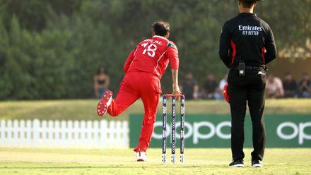 Bilal Khan bowling