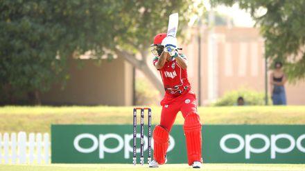 Jatinder Singh edges the ball to Matthew Cross
