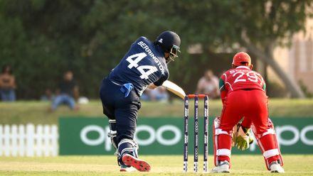 Richie Berrington batting against Oman