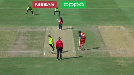 T20WCQ: IRE v NED – Ackermann bowled by Young yorker