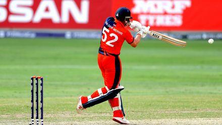 Roelof van der Merwe batting against Ireland