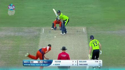 T20WCQ: IRE v NED – How the Ireland wickets fell