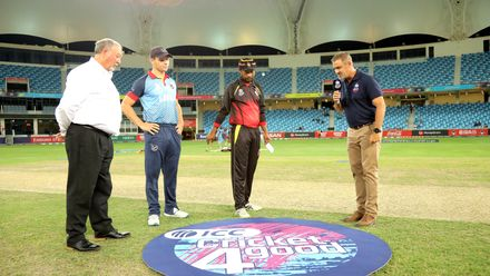 PNG and Namibia Captains at the toss