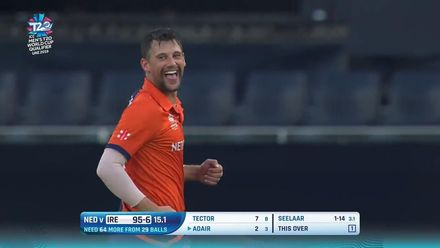 T20WCQ: IRE v NED – Seelaar gets two in two