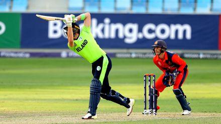 Andrew Balbirnie batting against Netherlands