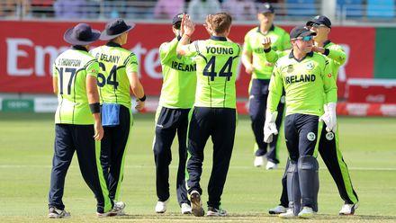 Ireland celebrate wicket of Max O'Dowd