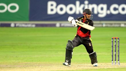 Charles Amini batting