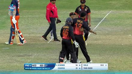 T20WCQ Final: How the Netherlands wickets fell