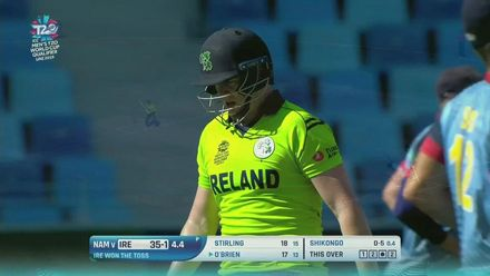 T20WCQ: IRE v NAM – Davin takes a superb catch to dismiss O'Brien