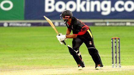 Asadollah Vala batting against Netherlands