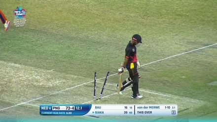 T20WCQ: NED v PNG - The PNG wickets to fall