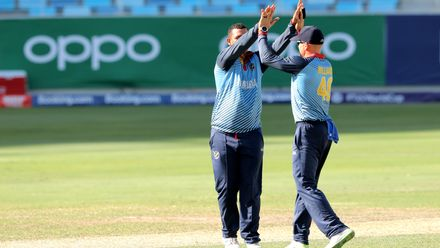 Zhivago Groenewald celebrate his wicket of Harry Tector