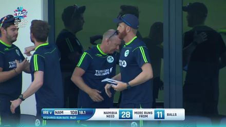 T20WCQ: IRE v NAM – The winning moment