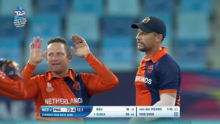 T20WCQ: NED v PNG - Highlights of the PNG innings