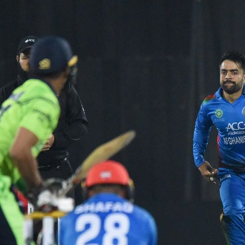 Ranked No.1 on the MRF Tyres ICC T20I Rankings for bowlers, Rashid Khan claimed the first of many T20I hat-tricks in 2019. He ran through the Ireland middle-order, taking four in four balls, as Afghanistan won by 30 runs to claim the series 3-0!