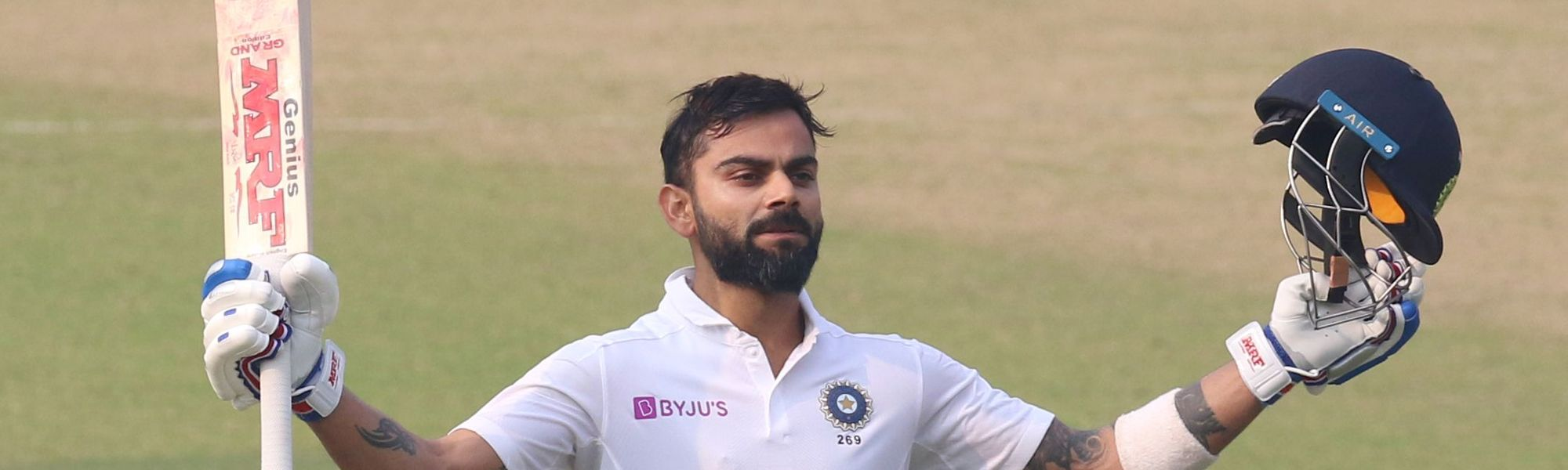 Kohli 100 in the pink ball Test