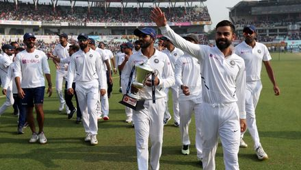 A two-Test series against Bangladesh followed, where both teams also played their first pink-ball Test. India swept the series 2-0, and rose to 360 points in the standings.