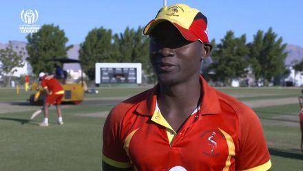 CWC Challenge League B – Oman: Jersey v Uganda – Uganda pre-match interview