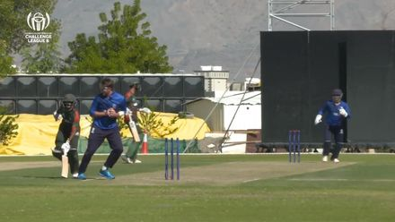 CWC Challenge League B – Oman: Italy v Kenya – Rushab Patel is run out for 27