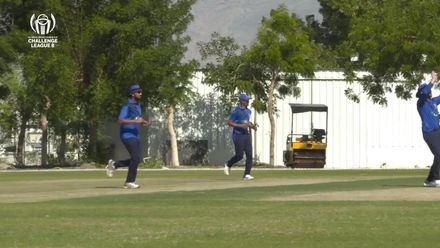 CWC Challenge League B – Oman: Italy v Kenya – Zahid Cheema takes a sharp catch