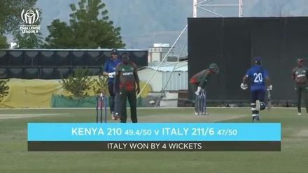 CWC Challenge League B – Oman: Italy v Kenya - Match highlights