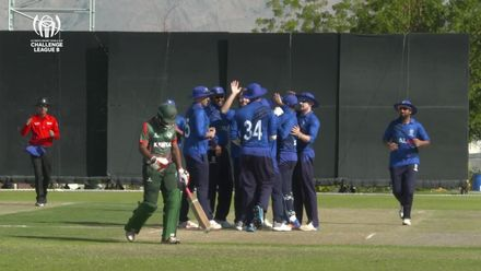 CWC Challenge League B – Oman: Italy v Kenya – Naman Patel falls for one