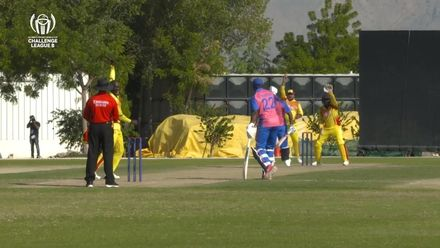 CWC Challenge League B: Uganda v Bermuda – Bermuda captain Fray is trapped in front