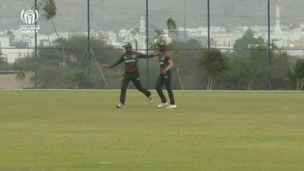 CWC Challenge League B: Bermuda v Kenya – Delray Rawlins is caught out for 35