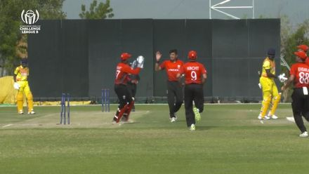 CWC Challenge League B: Hong Kong v Uganda – Aizaz Khan picks up 2 quick wickets at the start