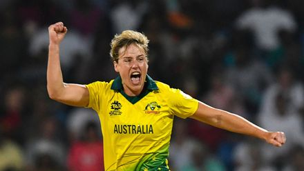 Australia's Ellyse Perry became the first cricketer to complete the double of 1000 runs and 100 wickets in T20Is