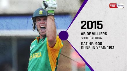 The top ten: Batsmen ranked No.1 in ODIs at the end of each year