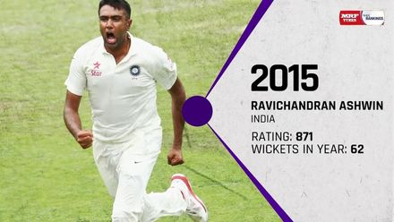 The top ten: Bowlers ranked No.1 in Tests at the end of each year