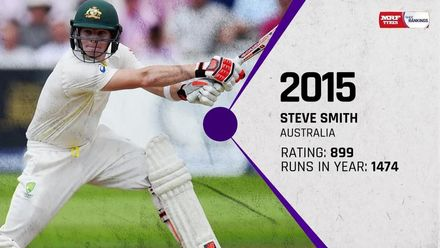 The top ten: Batsmen ranked No.1 in Tests at the end of each year