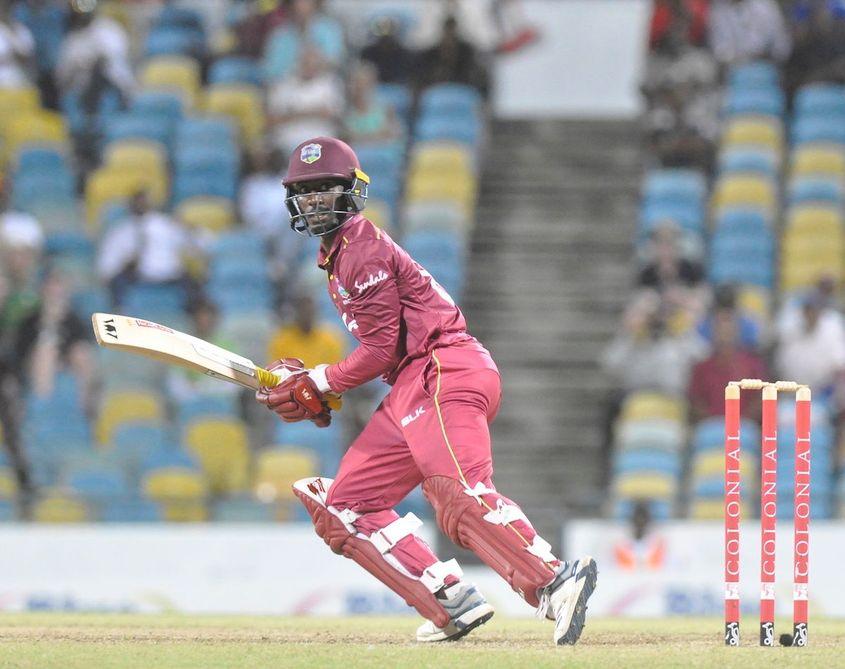 Hayden Walsh Jr scored an unbeaten 46 in the second ODI