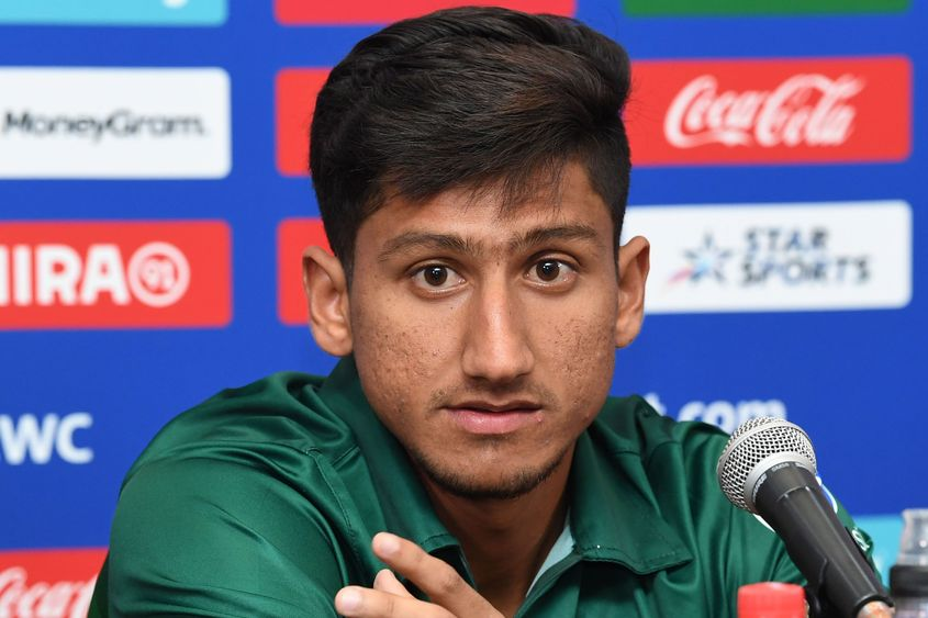 Rohail Nazir of Pakistan during a press conference prior to the ICC U19 Cricket World Cup 2020