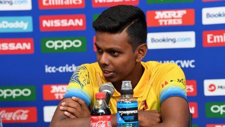 Nipun Danaajaya of Sri Lanka during a press conference prior to the ICC U19 Cricket World Cup 2020