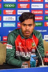 Akbar Ali of Bangladesh talks during a press conference prior to the ICC U19 Cricket World Cup 2020