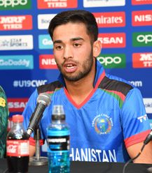 Farhaan Zakhiel of Afghanistan talks during a press conference prior to the ICC U19 Cricket World Cup 2020