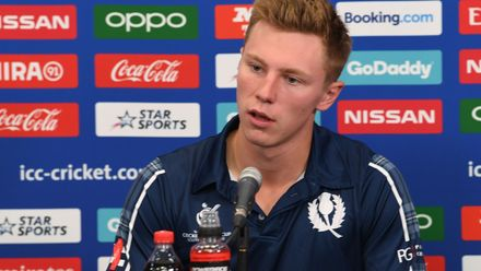 Angus Guy of Scotland during a press conference prior to the ICC U19 Cricket World Cup 2020