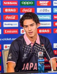 Marcus Turgate of Japan talks during a press conference prior to the ICC U19 Cricket World Cup 2020