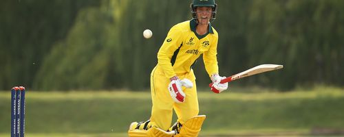 Patrick Rowe of Australia bats during the ICC U19 Cricket World Cup warm up match between Bangladesh and Australia at Tuks Cricket Oval on January 13, 2020 in Pretoria, South Africa.
