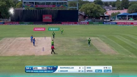 ICC U19 CWC: SA v AFG – Highlights of Ibrahim's half-century