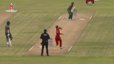 ICC U19 CWC: BAN v ZIM - Bangladesh smash 28 runs in one over