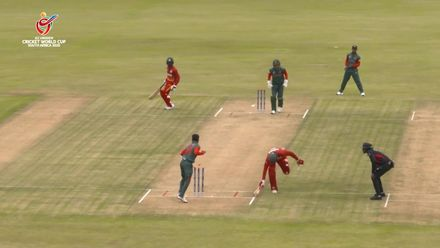 ICC U19 CWC: BAN v ZIM – Brilliant direct hit accounts for Oldknow